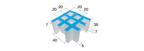 グレーチング寸法(下図)