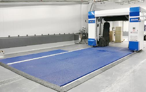 FRPグレーチング+門型洗車機(床上仕様)