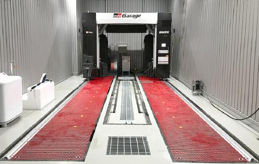 FRPグレーチング+門型洗車機+下部洗浄装置(埋設仕様)